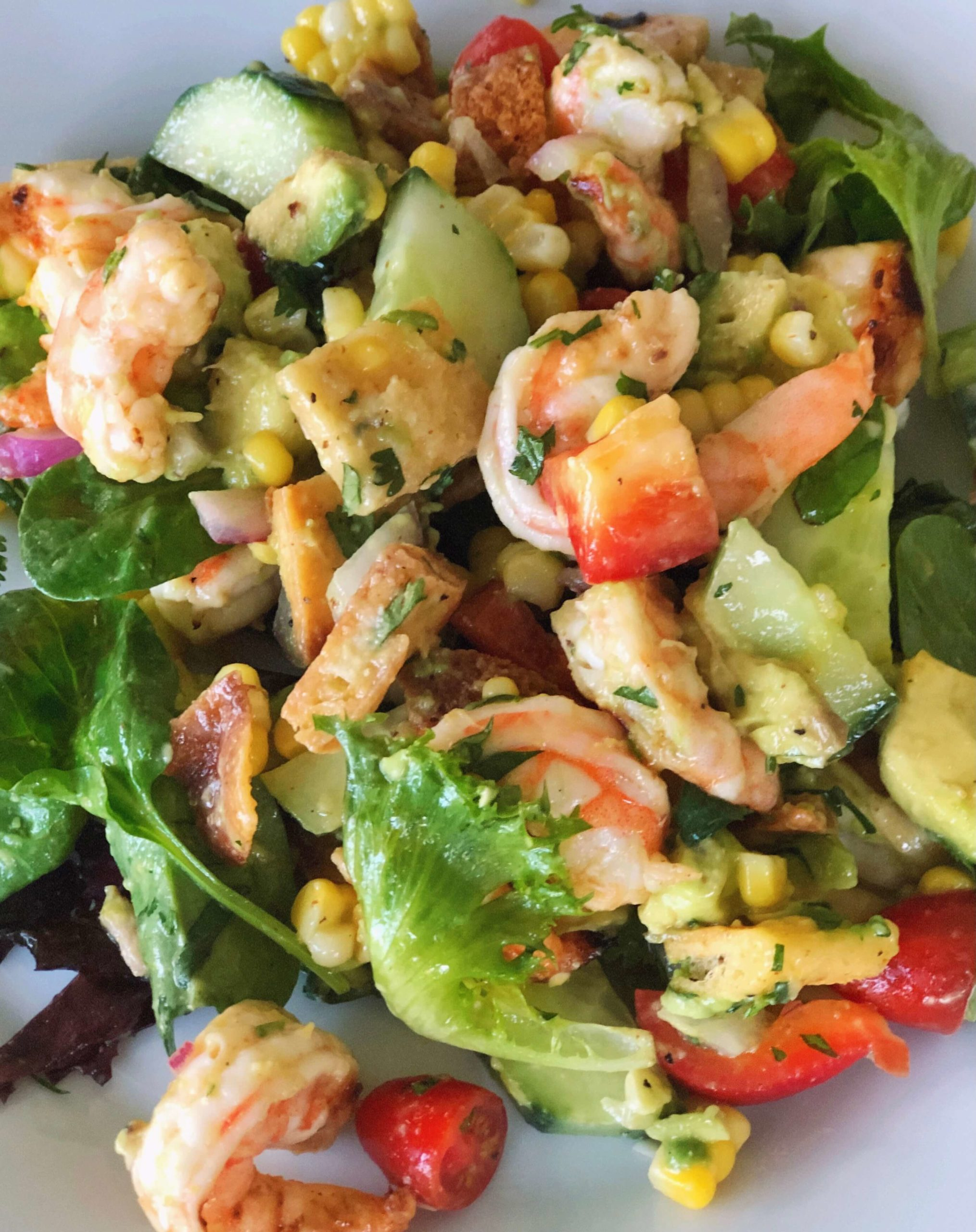 Picture of the Shrimp and Avocado Summer Salad on a plate